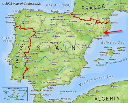 Bản đồ nước Tây Ban Nha