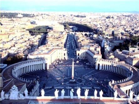 Thánh địa Vatican nhìn từ trên cao
