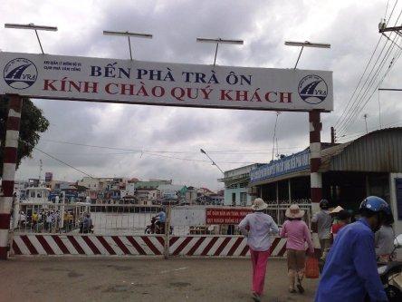 Bến phà Trà Ôn của tỉnh Vĩnh Long
