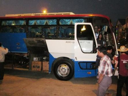 Xe đêm từ Bagan đi Inle Lake nè