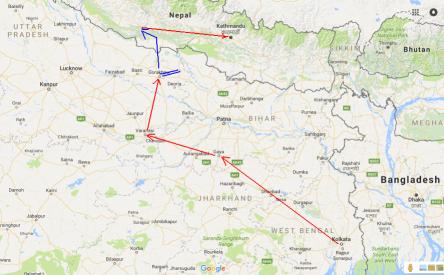 Hành trình đi trong Bắc Ấn