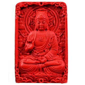 Mặt Phật bằng chu sa